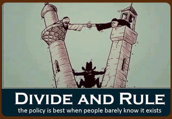 Divide and Rule spreading of Hate
