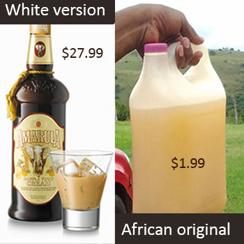 Europeans package African alcohol and own it