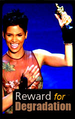 Halle Berry reward for degrading her race