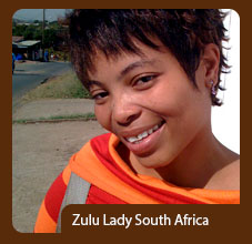 Light Skin Zulu lady South Africa