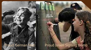 Proud Israeli students signing Weapons to Kill Arab women and children