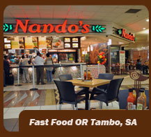 OR Tambo Airport Fast Food No African Food