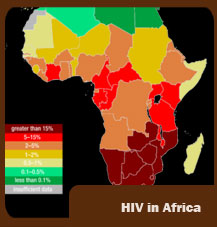 HIV rate Africa