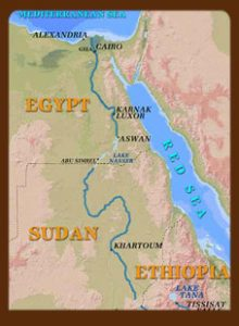 The Nile from Egypt to Ethiopia