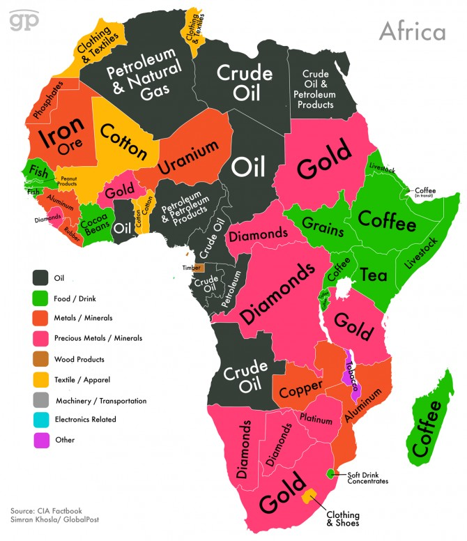 Africa's mineral Wealth map