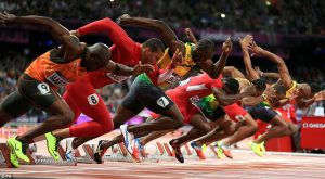 The only race the Black man is winning is the 100m and 200m